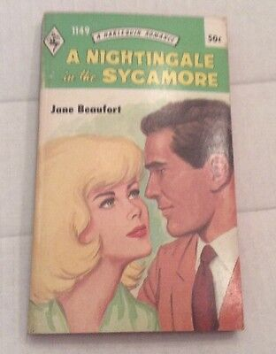 """Harlequin Romance Novel Vintage """" A Nightingale In The Sycamore"""""""