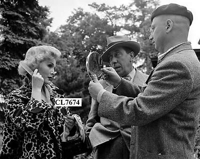 Zsa Zsa Gabor and Fernandel on the Movie Set of 'The Most Wanted Man' Photo