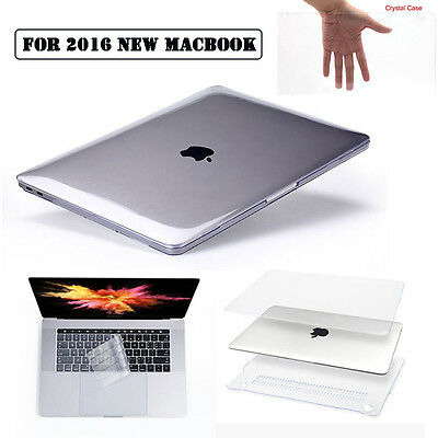 Crystal Clear Case+Keyboard Cover Skin fr 2016 MacBook Pro 13 with/out Touch Bar