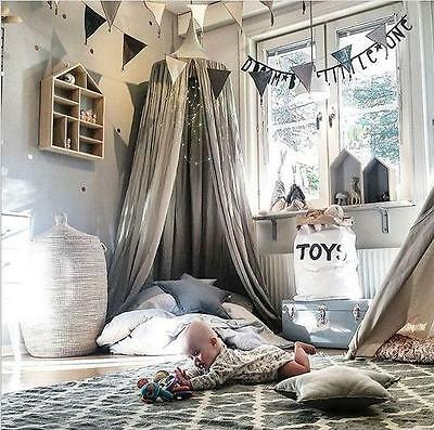 Princess Bed Canopy Baby Kids Reading Play Tents Cotton Mosquito Bedding Net F0