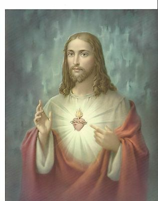 """Catholic Print Picture SACRED HEART of JESUS 8x10"""" ready to be framed"""