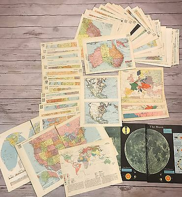 Vintage Maps From Atlas - Lot