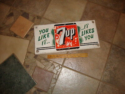 1953 vintage 7 UP Sign, You Like it, It Likes You