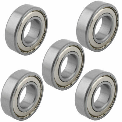 25mmx52mmx15mm 2 Shielded Design Deep Groove Rolling Ball Bearings S6025Z 5pcs