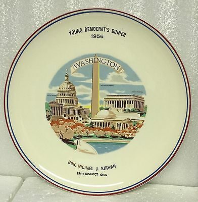 VINTAGE 1956 YOUNG DEMOCRAT'S DINNER PLATE - Taylor Smith Taylor Versatile Plate