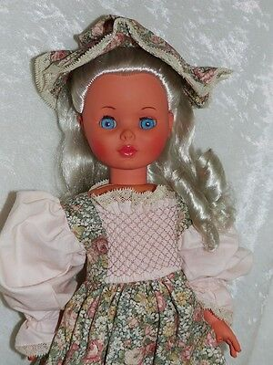 """Vintage Furga 21"""" Doll Redressed Good Vintage Condition Made In Italy"""