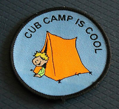Scout Badge Cub Camp is Cool