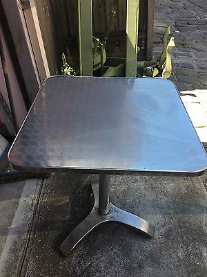 Stainless Steel Commercial Cafè Tables X 2