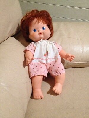 Strawberry Shortcake Baby Blow Kiss Doll 1982 American Greetings Corp