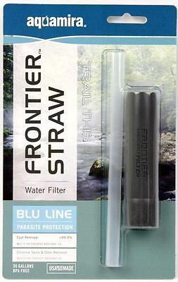 Aquamira Frontier Emergency Water Filter Straw Ultralight Backpacking / Hiking