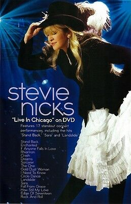 Stevie Nicks poster - Live In Chicago - 11 x 17 inches - Fleetwood Mac poster