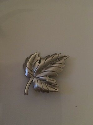 Vintage 1980's Authentic Tiffany Co Sterling Silver Maple Leaf Brooch Pin WOW