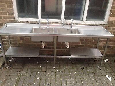 Commercial Double Sink Stainless Steel ,Immaculate Condition 2 Available