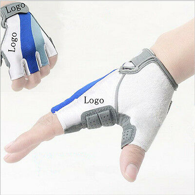 Sports Bicycle Bike Motorcycle Gel Silicone Half Finger Fingerless Gloves 3 Size