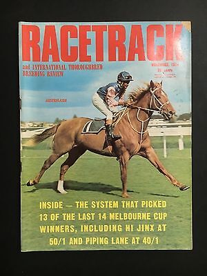 Racetrack Magazine November 1974 Australasia Cover