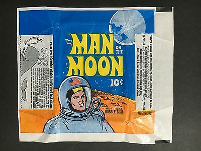"""""""Man On The Moon"""" Trading Card 1969 Wrapper By Topps"""