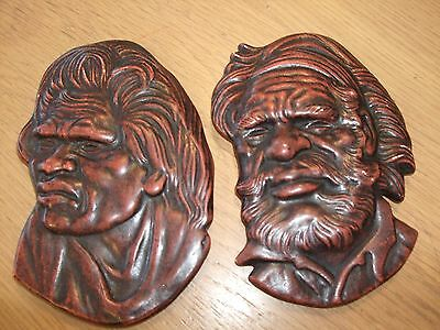 ALEXANDER TAKACS Pair of Collectible Australian Aboriginal Wall Plaques (signed)