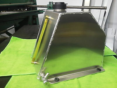 5 Qt. Go Kart, Motor Cycle Snowmobile Aluminum Tank With Fuel Site Bottom Outlet
