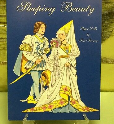 Sleeping Beauty PAPER DOLLS BOOK Tom Tierney   Gorgeous Outfits   VTG Dolls