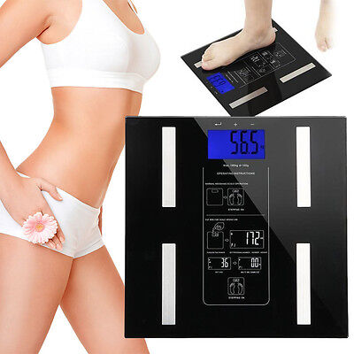 400lb/180kg Smart Body Weight Scale LCD Electronic Digital Fat Health Management
