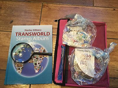 'Stanley Gibbons' Transworld Stamp Collecting Kit - new