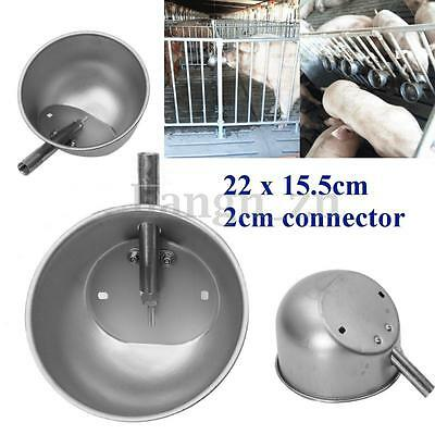 Stainless Steel Automatic Wall Mountable Water Bowl Livestock Farm Dog Pig Cow