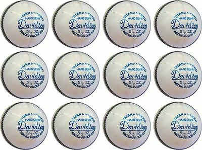 12 x HAND SEWN CRICKET LEATHER BALLS 4 PCS 5.5 OZ    Men Size ~~COURIER SHIPPING