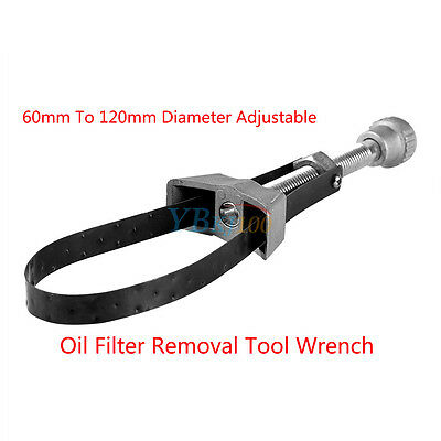 1Pc Car Oil Filter Removal Tool Strap Wrench 60mm To 120mm Diameter Adjustable