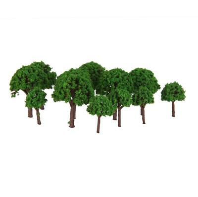 50pcs Model Light Green 3CM Trees Layout Train Street Diorama 1:500 Scale