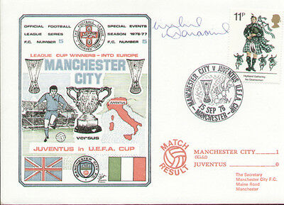 Manchester City into Europe 1976 Dawn First Day Cover - Signed Willie Donachie