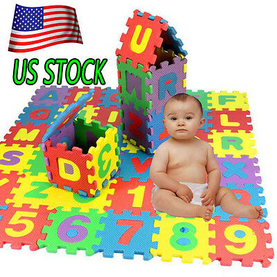 New Baby Child Number Alphabet Puzzle Foam Maths Educational Learning Toy Gift