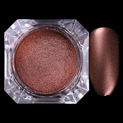 2g Chocolate Matte Powder Dust Glitter Nail Decor Manicure DIY BORN PRETTY