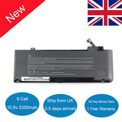 Battery for Apple A1278 A1322 Mid 2009 2010 2011 2012 MacBook Pro 13'' MB990 New