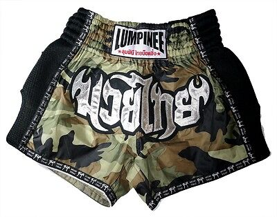 Lumpinee Camo Retro Camouflage Army Muay Thai Kick Boxing Shorts Fight Men Gyms