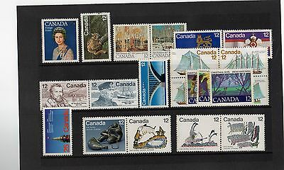 1977 CANADA. FULL YEAR SET MINT STAMPS. Excellent Condition