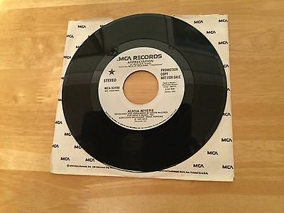"For Sale Vinyl 7"" Single Demo Record by Alicia Myers"