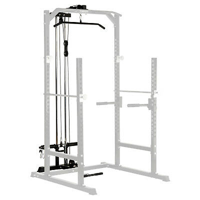 MIRAFIT Cable Upgrade Kit for Half Power Rack/Squat Cage Lat Pull Down/Row/Curl