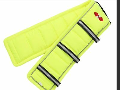 ZILCO DRIVA PUFFER PAD NEON YELLOW  Carriage Driving Harness Saddle Pads Liner