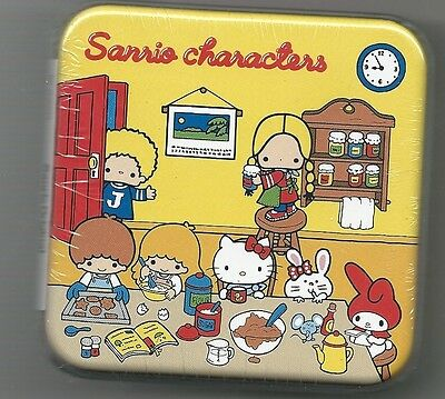 Sanrio Characters Melody Hello Kitty Notepad W/ Matching Can Holder Yellow