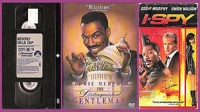 Eddie Murphy movie trio (I-Spy + Beverly Hills Cop VHSs) Distinguished Gentleman