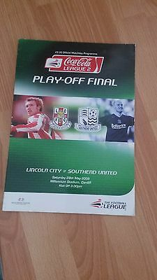 LINCOLN CITY V SOUTHEND UTD Coca Cola League 2 Play Off final 2005