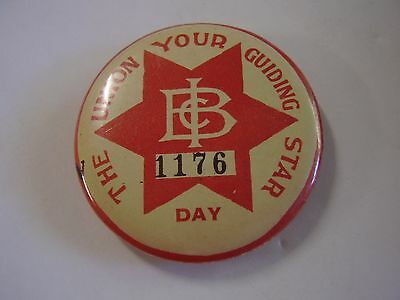 Early Broken Hill Barrier Industrial Council Union Member Button Badge, Day