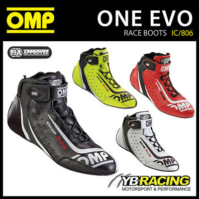 Ic/806 Omp One Evo Shoes Lightweight Race Boots Fia Approved Omp New Model