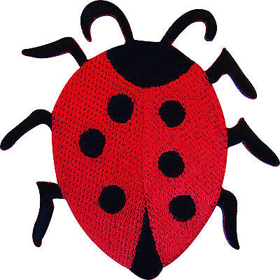 Embroidered Iron On Ladybird Patch Sew On Ladybug Badge Embroidery Crafts Sewing