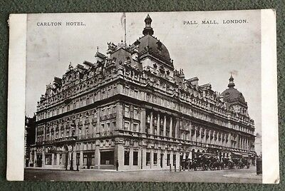 CPA. LONDON. Angleterre. Carlton Hotel. Pall Mall. Londres. 1909.