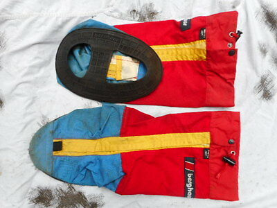 original BERGHAUS goretex YETI MOUNTAIN boot GAITERS L LARGE vintage red EXTREME