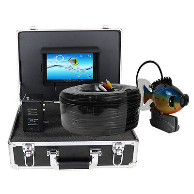 "100m Underwater 7"" Colour TFT LCD Screen Video Camera System Fishing Finder"