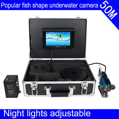 "50m Underwater 7"" Colour TFT LCD Screen Video Camera System Fishing Finder"