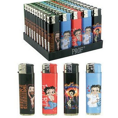 5 Briquet Betty Boop Rouge Bleu Noir Rechargeable Prof