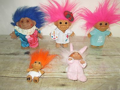 Lot Of 5 Trolls Assorted Sizes And Brands